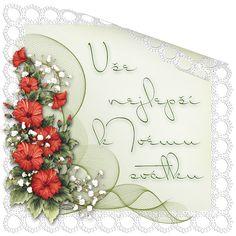 Přáníčka k svátku různá | Tvoření Wreaths, Blog, Decor, Decoration, Door Wreaths, Blogging, Deco Mesh Wreaths, Decorating, Floral Arrangements
