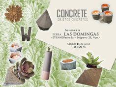 Vamos a estar el 11 y 18 de Junio >>>>>en Feria Las Domingas - Etienne Bar - *****Pasá por el stand de Concrete Objetos Concretos*****  #concrete #objetosconcretos #deco #decodesigns #cemento #concreto #sweethome #feria #ferialasdomingas #FeriaLasDomingas #neuquen #neuquendiseño #neuquendiseñohogar #diseñohogar #nqn #emprendedoresnqn #etiennebar