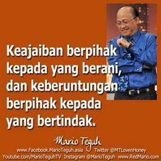 Mario Teguh Inspire Quotes, Quotes Indonesia, Mario, Inspirational Quotes, Words, Memes, Instagram, Life Inspirational Quotes, Life Coach Quotes