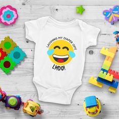 Laughing My Diaper Off  LMDO Cute Funny Unisex Baby Onesie;    #funnyonesie #cutebabyonesie #lmbo #lmao #babyonesie #babyclothes Cute Baby Onesies, Cute Baby Girl, Cute Baby Clothes, Funny Babies, Cute Babies, Baby Shower Gifts, Baby Gifts, Diy Step By Step, Unisex Baby