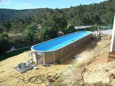 Above Ground Fiberglass Lap Pools