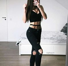 Shop for trendy swimwear, clothing and accessories for women at affordable prices Bad Girl Outfits, Edgy Outfits, Grunge Outfits, Cute Casual Outfits, Summer Outfits, Fashion Outfits, Fashion Trends, Badass Outfit, Outfit Goals