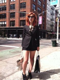 amber doyle of against nature nyc via Tumblr #streetstyle #nolita #fashion #nyc