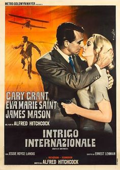 Italian movies | north by northwest italian movie poster enzo nistri