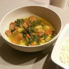 Kale soup. Cape verdean dish