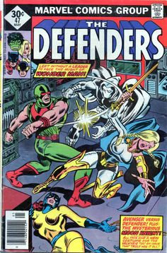 Vintage 1977 Marvel Comics Group The Defenders #47 May 30c Diamond Price Variant!