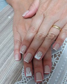 Nude Nails, Glitter Nails, Acrylic Nails, Short Nail Designs, Cool Nail Designs, Nail Pro, Nail Tech, Hello Nails, Finger