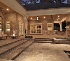 Outdoor Kitchen Patio, Outdoor Rooms, Outdoor Living, Dream Home Design, House Design, Casas Country, Backyard Patio Designs, Patio Ideas, Outside Living