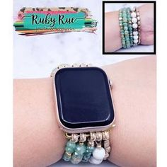 Beaded Apple Watch Bands – Ruby Rue Jewelry & Accessories Aztec Necklaces, Striped Earrings, Cactus Earrings, Expensive Watches, Turquoise Pendant, Stone Bracelet, Leather Earrings, Apple Watch Bands, Jewelry Accessories