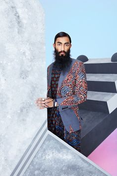 Suren at AMCK Models fronts the Spring/Summer 2014 campaign of DENT de MAN, photographed by Marc Hibbert and styled by Tomas C. For DENT de MAN adapts decadent Java prints to form each. Men's Fashion, Ethnic Fashion, Urban Fashion, Fashion Prints, Fashion Styles, Fashion Tips, African Clothing For Men, African Print Fashion, Africa Fashion