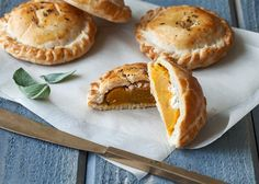 Make these Butternut Squash + Goat Cheese Hand Pies for Thanksgiving.