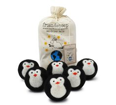 Friendsheep Eco Dryer Balls are an all natural and organic fabric softener handmade from 100% premium New Zealand wool. Stop using chemically treated dryer sheets and fabric softeners that contain har