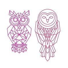 Owl Tattoo Design Ideas The Best Collection Top Rated Stylish Trendy Tattoo Designs Ideas For Girls Women Men Biggest New Tattoo Images Archive Geometric Owl Tattoo, Geometric Drawing, Geometric Flower, Geometric Art, Geometric Owl Wallpaper, Owl Outline, Arte Linear, Embroidery Designs, Owl Illustration