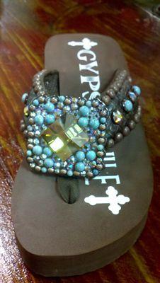 0e32e6a5c8f8be Gypsy Soule- Santa Fe Flip Flop  Gypsy Soule