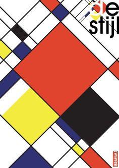 Piet Mondrian, Mondrian Kunst, Design Poster, Design Art, Visual Communication Design, Bauhaus Design, Jean Arp, Art Plastique, Graphic Design Illustration