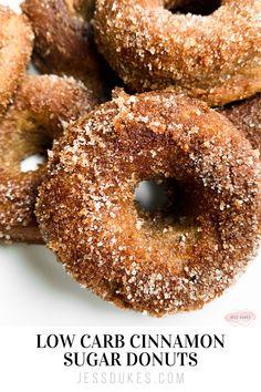 Protein Donuts, Keto Donuts, Healthy Donuts, Baked Donuts, Doughnuts, Sugar Free Donuts, Cinnamon Sugar Donuts, Easy Donut Recipe, Baked Donut Recipes