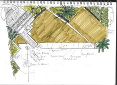 Urban Garden Design Strong bold diagonals sweep across this garden in this shallow space. The eye is drawn to the seating in the far corner Urban Garden Design, Back Garden Design, Garden Design Plans, Tree House Interior, Garden Drawing, Corner Garden, Earth Design, Back Gardens, Diy On A Budget