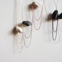 Porcelain Gem Necklaces - $68