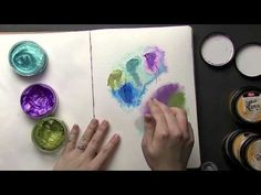 Creative Craft - Inka Gold colouring Hints & Tips Introduction. Mini Albums, Inka Gold, Art Journal Tutorial, Mixed Media Tutorials, Art Journal Pages, Art Journals, Art Journal Techniques, Card Tutorials, Art Journal Inspiration