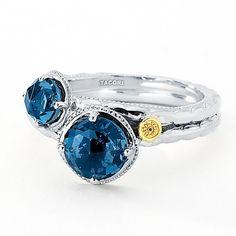 #windsorfinejewelers.com  #ring                     #Tacori #18k925 #Stone #London #Blue #Topaz #Ring   Tacori 18k925 Two Stone London Blue Topaz Ring                                http://www.seapai.com/product.aspx?PID=94374