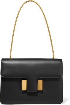 Black leather (Calf) Push lock-fastening front flap Weighs approximately 2.2lbs/ 1kg Made in Italy