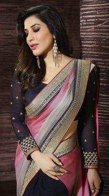 Fab Yug Designer Multi Georgette Saree Sarees
