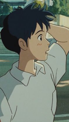 Studio ghibli,whisper of the heart,hayao miyazaki Art Studio Ghibli, Studio Ghibli Movies, Studio Ghibli Quotes, Studio Ghibli Characters, Film Anime, Anime Art, Aesthetic Art, Aesthetic Anime, Film Animation Japonais