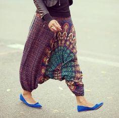 Bohemian Gypsy, Boho, Parachute Pants, Harem Pants, Fashion, Embroidery, Moda, Harem Jeans, Fashion Styles