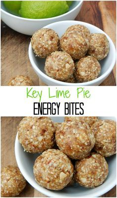 If you love Key Lime Pie then these Key Lime Pie Energy Bites are a quick and simple way to have it anytime at all. Only a handful of ingredients and no sugar added! Protein Snacks, Protein Bites, Energy Snacks, Energy Bites, Protein Ball, Vegan Snacks, Vegan Sweets, High Protein, Key Lime Pie