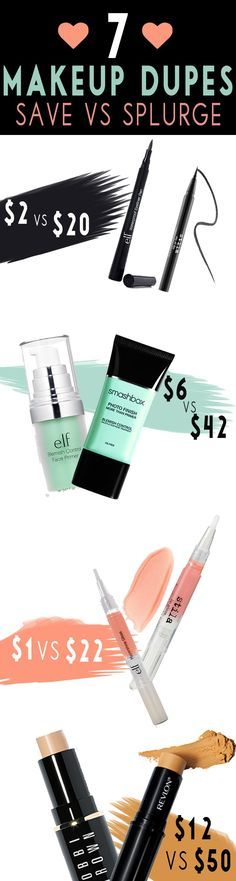 Why splurge when you can save? Most girls have no problem investing in their favorite makeup products and sadly we know, that things add up quickly while shopping at Sephora. Such a great post on the best dupes currently on the market from primers, highlighters to the best mascara. Too many great beauty saving secrets not to pass along! #beauty