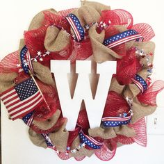 My 4th of July diy wreath #4thofjuly #diy