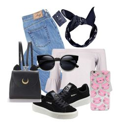 """""""Untitled #332"""" by diva-fashionista ❤ liked on Polyvore featuring Boohoo and Puma"""
