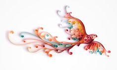 Dando voltinhas.  Além de ótima ilustradora, pode-se dizer que Yulia Brodskaya é expert na arte de enrolar papel!