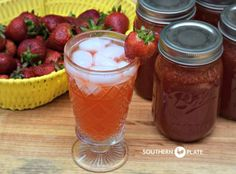Strawberry Lemonade Concentrate – can it now to enjoy later! ~ www.southernplate...
