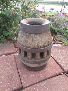 Weathered Wood Wagon Wheel Hub Rustic Primitive Farm Decor Lamp Base Antique q