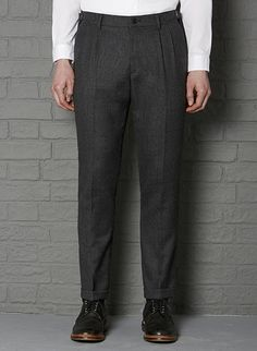 Derby Pleat Front Pant #aw13 #farrell #charcoal #wool