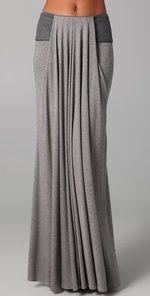 Doo.Ri Long Draped Skirt with Leather Trim | SHOPBOP   I bet I could figure out how to make this..