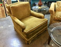 """Vintage Side Chair   28"""" Wide x 32"""" Deep x 30"""" High  $225  Lula B's in the OC! 1982 Ft. Worth Ave. Dallas, TX 75208"""