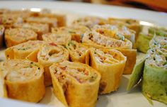 Homemade By Holman: Spicy Chicken Tortilla Roll-Ups.  Use the low carb tortillas