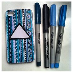Sharpie your own iPhone cases to get unique and creative designs! Then seal it with a clear coat when you are finished!