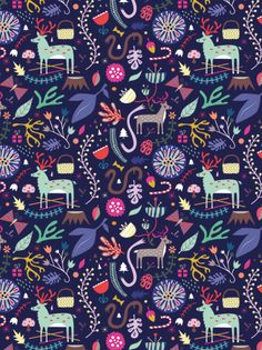 Colourful and amazing patter by Sarah Andreacchio.