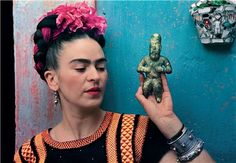 She wasn't only an artist, she, herself, was a work of art. Frida Kahlo.