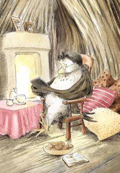 Digital Reading - Illustration by Joanna Pasek