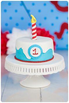 Dr. Seuss Birthday Cat In The Hat Birthday Dr. Seuss Cake Smash Cake Smash Melanie Bennett Photography