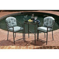 Jaclyn Smith Today  Chandler 3pc High Bistro Set kmart 175.00