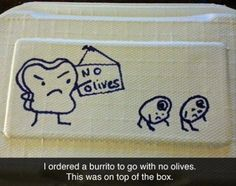 I appreciate restaurant workers with a sense of humor - as long as they don't think spitting in food is funny Funny Ads, Funny Memes, Hilarious, Funny Picture Gallery, Funny Drawings, Everything Funny, Daily Funny, Have A Laugh, Pictures To Draw