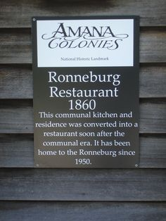 Amana Colonies Restaurant    Sure wish I was having supper there tonight!