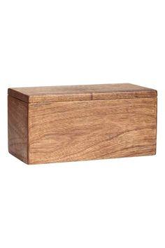 Puinen säilytyslaatikko - Luonnonsävyinen - Home All | H&M FI 1