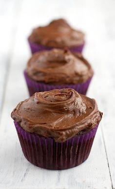Rich, moist, chocolaty, and delicious double chocolate cupcakes. These heavenly treats are vegan and gluten free and oh so scrumptious! #cupcakes
