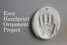Easy handprint ornament project from @childtocherish #christmas #handmade #kids
